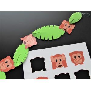 décoration chambre bébé singe