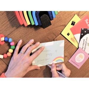 cartes étapes bébé message à personnaliser