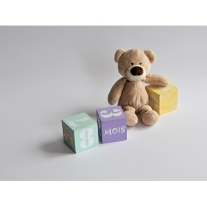 cubes age de bébé en bois
