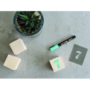cubes en bois cadeau de naissance original