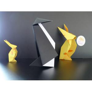 Aasaan, les origamis pingouins et lapins