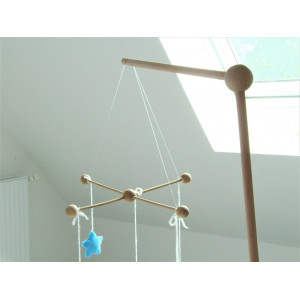 suspension bois mobile bebe