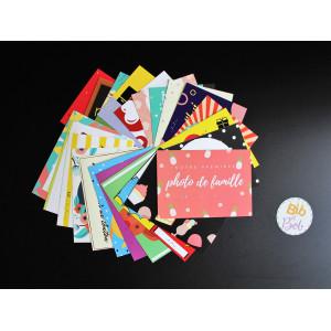 cartes étapes bébé photos souvenirs premieres fois