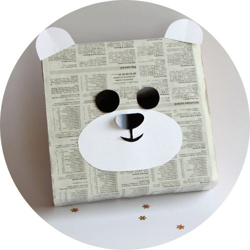 emballage cadeau bebe petit ourson