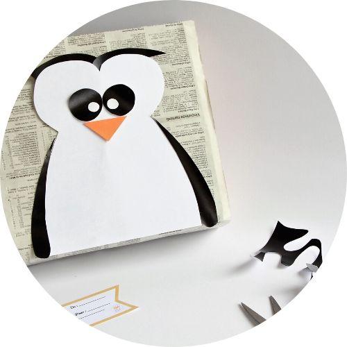 paquet cadeau pingouin joli et original