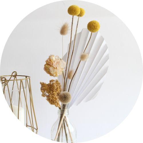 diy deco papier fleurs sechees